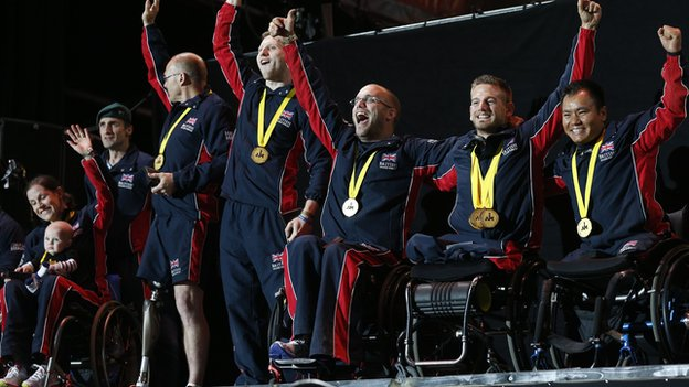 Members of GB Invictus team